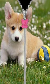Cute Puppy Zip Screen Lock screenshot 7