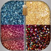 Zip Glitter lock screen icon