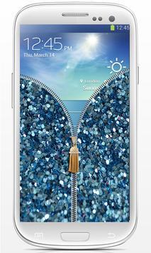 Zip Glitter lock screen poster