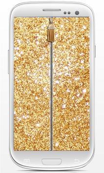 Zip Glitter lock screen screenshot 6