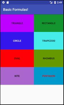 Basic Formulas! apk screenshot