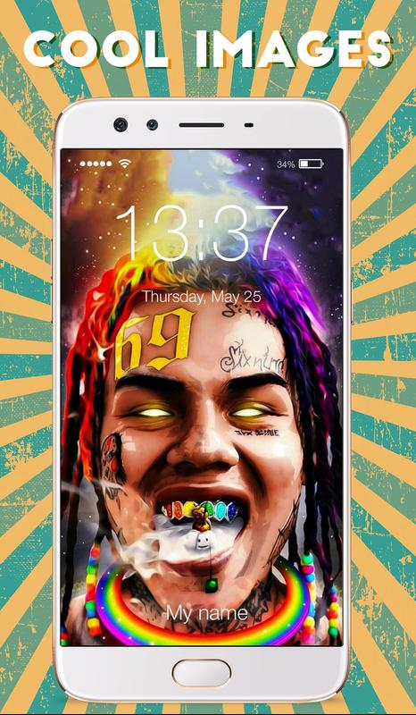 6ix9ine Wallpapers Hd Arts Cloud Rap Lock Screen For Android Apk