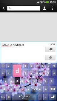 Sakura Keyboard Changer apk screenshot