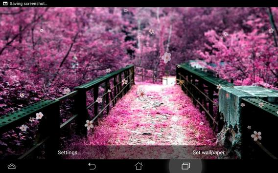Sakura Live Wallpaper apk screenshot