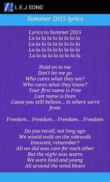 Скачать l. E. J summer 2015 lyrics apk бесплатно музыка и аудио.