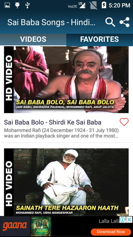 sai baba ke gane video