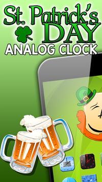 St Patrick's Day Analog Clock poster