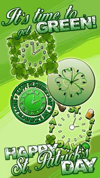 St Patrick's Day Analog Clock screenshot 2
