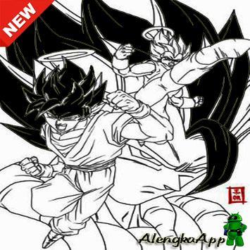 Super Saiyan Image Sketch poster