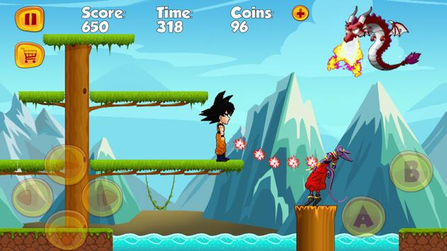 Super Goku Dragon Boy Run screenshot 1