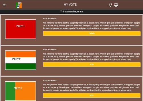 My Vote apk screenshot