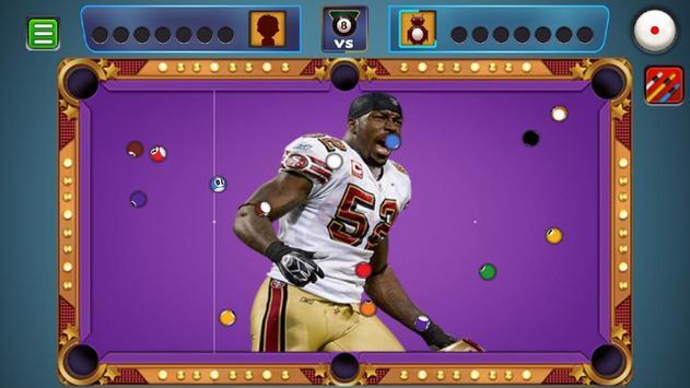 Billiards San Francisco 49ers Theme screenshot 4