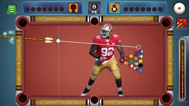 Billiards San Francisco 49ers Theme poster