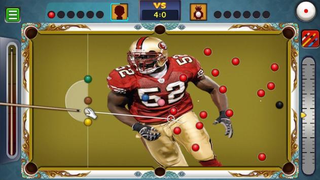Billiards San Francisco 49ers Theme screenshot 3
