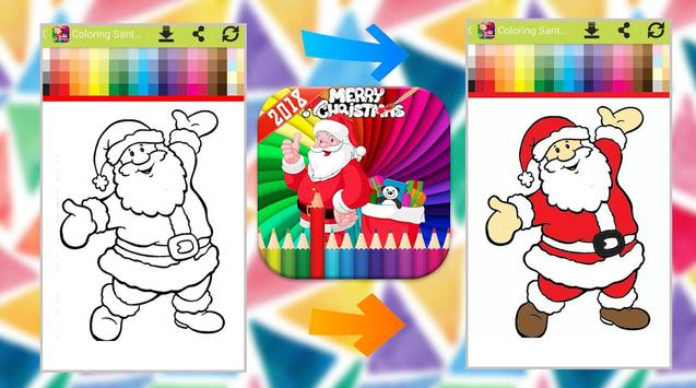 Santa Claus Coloring Book poster