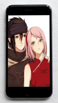 Sasuke and Sakura Wallpaper poster