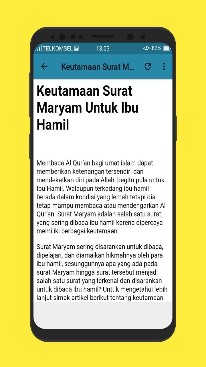 All The Surat Maryam Untuk Ibu Hamil Bayi Fan As