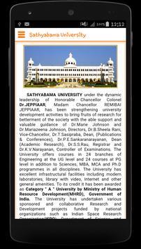 Sathyabama University poster
