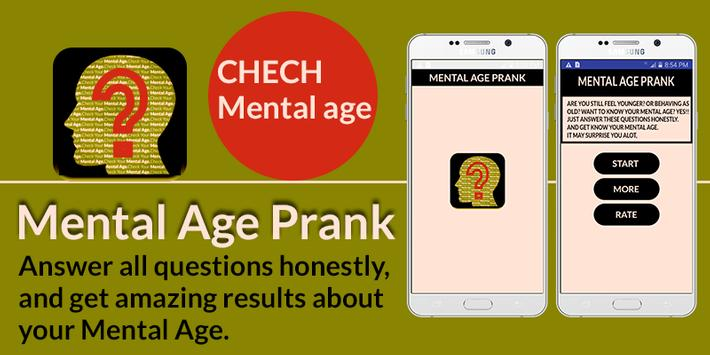 Mental Age Prank poster