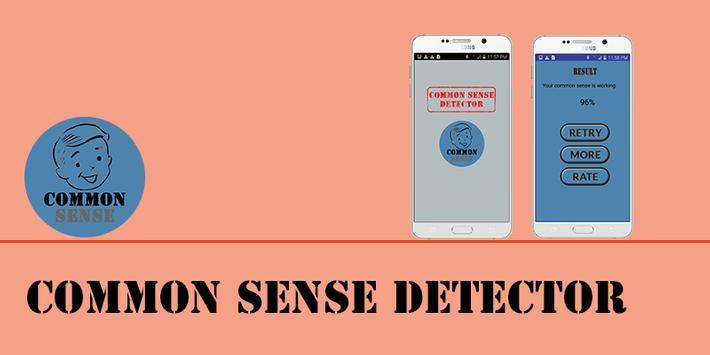 Common Sense Detector Prank poster