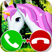 unicorn call simulation game icon