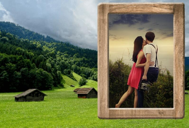molduras paisagem fotos gratis