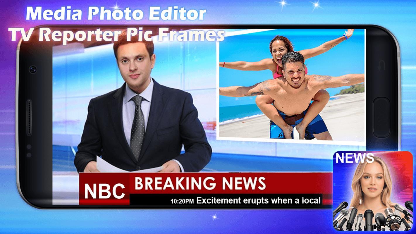 Reportero De Tv - Marcos Para Fotos for Android - APK Download