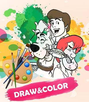 Coloring Scooby Dooby Doo Game poster