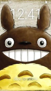 My Cute Little Neighbor Toto Art Screen Lock poster
