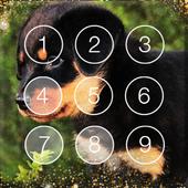 Smart Rottweiler Dog Little Puppies Screen Lock icon