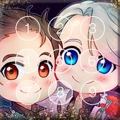 Сute Lovely Anime Yuri Chibi Nice Ice Screen Lock icon