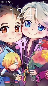 Сute Lovely Anime Yuri Chibi Nice Ice Screen Lock poster