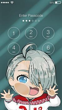 Сute Lovely Anime Yuri Chibi Nice Ice Screen Lock screenshot 1