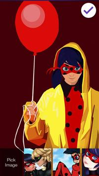 Ladybug Beautiful Cute Art Superheroes Screen Lock screenshot 2