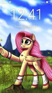 Little Rainbow Nice Cute Pony Cartoon Screen Lock poster