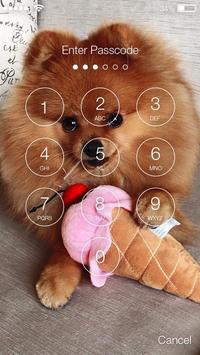 Pomeranian Spitz Cute Dog Screen Lock screenshot 1