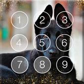 Smart Cute Black German Shepherd Screen Lock icon