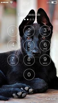 Smart Cute Black German Shepherd Screen Lock poster