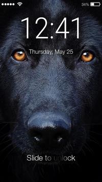 Smart Cute Black German Shepherd Screen Lock apk screenshot