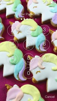 Sweet And Cute Unicorn Cookies Screen Lock apk screenshot
