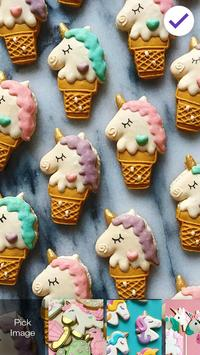 Sweet And Cute Unicorn Cookies Screen Lock apk screenshot