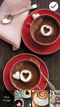 Sweet Coffee For Love Couple Screen Lock screenshot 2