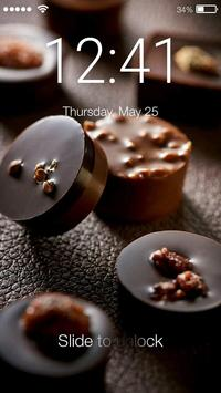 Sweet Chocolate Is A Nice Gift Screen Lock poster