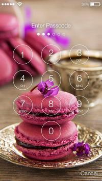 Sweet Beautiful Macarons Screen Lock apk screenshot