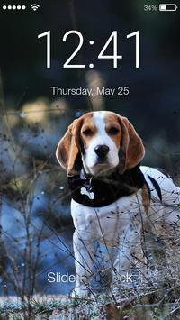 Smart Cute Little Beagle Dog Screen Lock poster