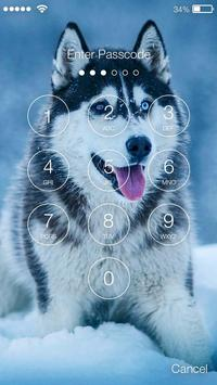 Smart Nice Siberian Husky Screen Lock apk screenshot