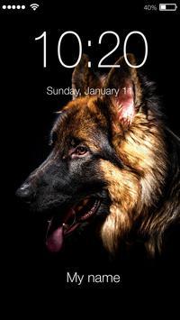 German Shepherd Dog Breed App Lock poster