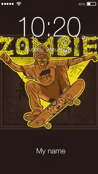 Funny Zombies Brain Lock Screen poster