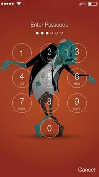 Funny Zombies Brain Lock Screen screenshot 1