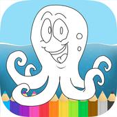Ocean Animals Octo Coloring icon